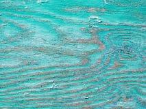 Старая синь покрасила предпосылку текстурированную древесиной Стоковая Фотография RF