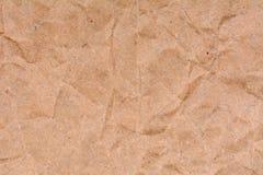 Старая скомканная бумажная предпосылка текстуры, конец вверх Стоковое Фото