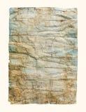 Старая скомканная бумажная текстура Стоковые Изображения RF