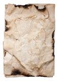 Старая скомканная бумажная текстура Стоковые Фотографии RF