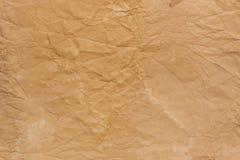 Старая скомканная бумажная текстура стоковые фото