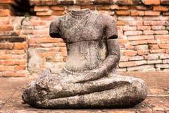 Старая скульптура в Ayutthaya Стоковое Изображение