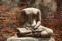 Старая скульптура в Ayutthaya Стоковое Изображение RF