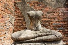 Старая скульптура в Ayutthaya стоковые изображения
