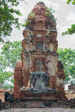 Старая скульптура песчаника Будды стоковые фото