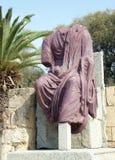 Старая скульптура цезаря Стоковая Фотография