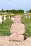 Старая скульптура людей Средней Азии kyrgyzstan Стоковое Фото