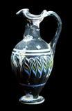 Старая склянка стекла мозаики изолированная на черноте Стоковые Изображения