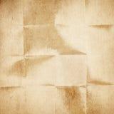 Старая сложенная бумага Стоковое фото RF
