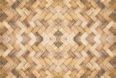 Старая сплетенная бамбуковая картина Стоковое Изображение RF