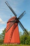 Старая средневековая ветрянка. Стоковое Изображение