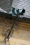 Старая средневековая деталь здания стоковые фотографии rf