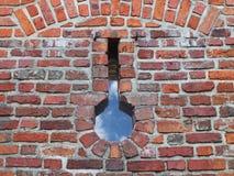 Старая средневековая кирпичная кладка с скотобойней Текстура части стены старой структуры Предпосылка для дизайна и Стоковые Фотографии RF