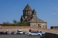 Старая средневековая армянская церковь монастыря Gandzasar Стоковые Фото