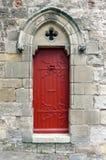 Старая средневековая французская дверь замка Стоковая Фотография RF