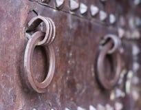 Старая стальная дверь Стоковые Фотографии RF