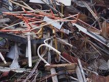 Старая стальная ржавая куча для рециркулирует утюг рециркулирует промышленная старую Стоковая Фотография