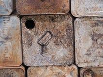 Старая стальная ржавая куча для рециркулирует стоковое фото
