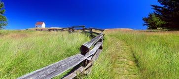Старая станция тумана на восточный этап, национальный парк островов залива, остров Saturna, Британская Колумбия Стоковое Изображение