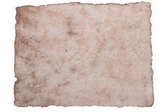 Старая старая бумага листа изолированная на белой предпосылке Стоковые Фото
