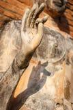 Старая статуя Будды в парке Sukhothai историческом Стоковая Фотография