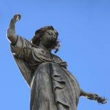 Старая статуя в кладбище Recoleta. стоковые фотографии rf