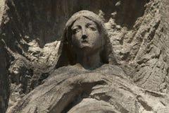 Старая статуя девой марии Стоковая Фотография RF