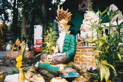 Старая статуя китайского виска в Таиланде стоковая фотография
