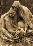 Старая статуя кладбища Стоковое фото RF