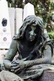 Старая статуя кладбища Стоковое Фото