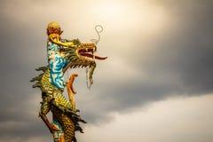 Старая статуя дракона Стоковое фото RF