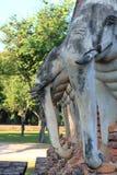 Старая статуя слона Стоковое Изображение RF