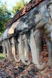 Старая статуя слона Стоковая Фотография