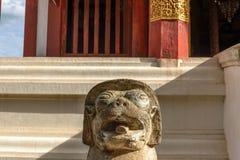 Старая статуя льва Стоковое Изображение RF