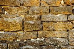 Старая стена блоков гранита Стоковая Фотография