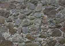Старая стена больших камней и цемента Стоковые Изображения RF