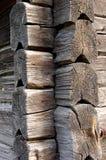 старая стена вала кец деревянная Стоковые Фото