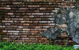 Старая стена виска Lanna Стоковая Фотография RF