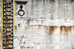 Старая стена в порте Holesovice Стоковые Изображения RF