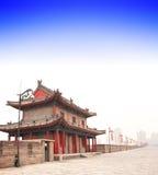 Старая стена в Сиане, Китай Стоковое Фото