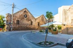 Старая стена города - Греция, Chania стоковая фотография rf