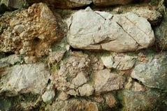 Старая стена гранита Стоковое Фото