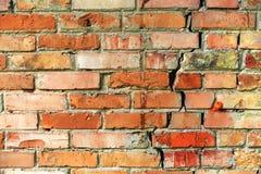 Старая стена желтого и красного кирпича стоковая фотография rf