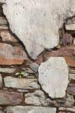 Старая стена камня и гипсолита Стоковая Фотография RF
