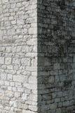 Старая стена краеугольного камня стоковая фотография rf