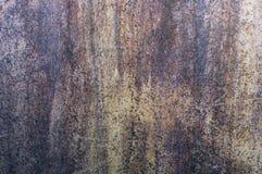 Старая стена металла, ржавая время от времени, утюга стоковые изображения rf