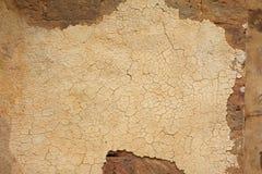 Старая стена миномета гипсолита Стоковые Фотографии RF