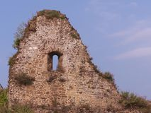 Старая стена руин Стоковая Фотография RF