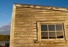 старая стена сарая Стоковые Фотографии RF