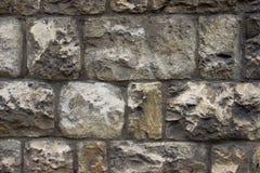 Старая стена сделанная из каменных блоков Стоковое Изображение